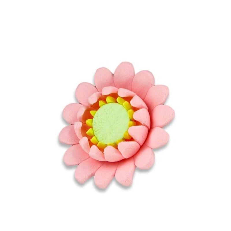 Fleur de nénuphar rose en pastillage (x2)