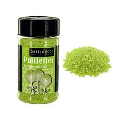 Paillettes de sucre nacrées vert clair Patisdécor
