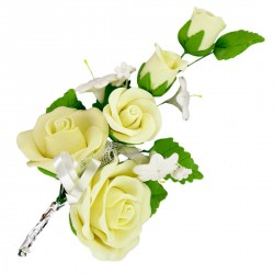 Bouquet de roses jaunes XL Patisdécor (x3)