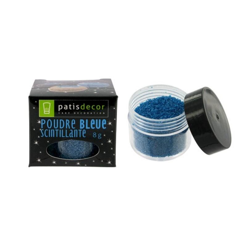 Poudre scintillante bleue Patisdécor