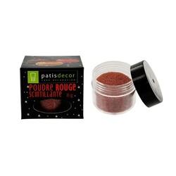 Poudre scintillante rouge Patisdécor DDM 04/2020
