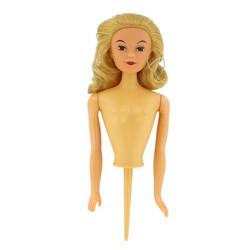 Buste de poupée blonde sur pique PME
