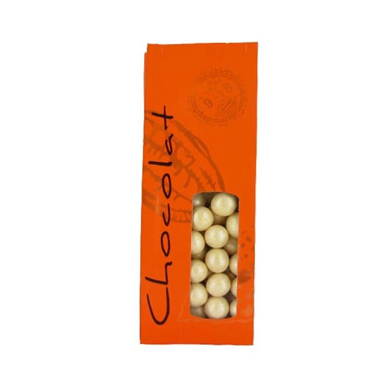 Sachet chocolat Mandarine 24 cm (x50)