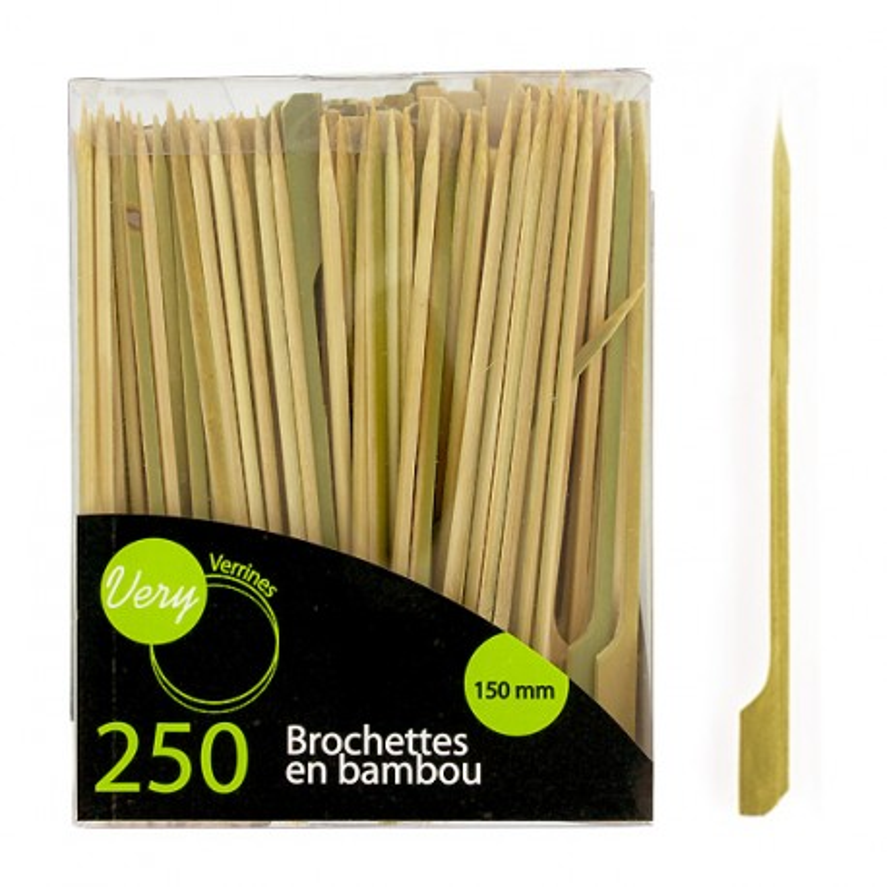 Pic bambou plat 15 cm Very Verrines (x250)