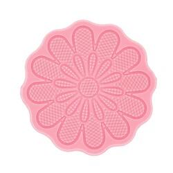 Tapis silicone rosace dentelle fleurs Technicake