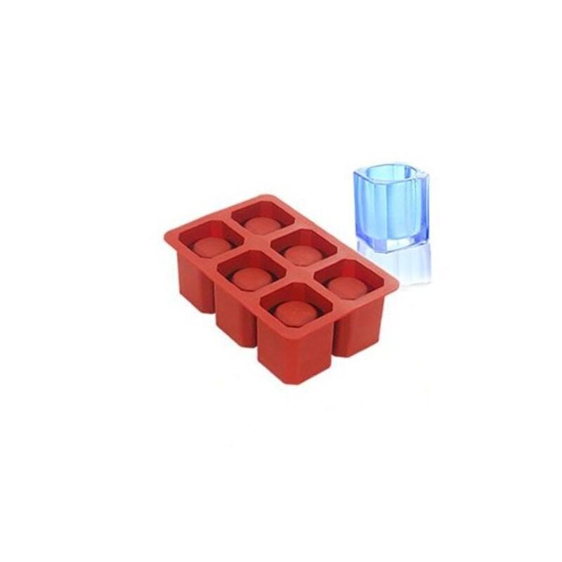Moule silicone 6 ice-shot carrés