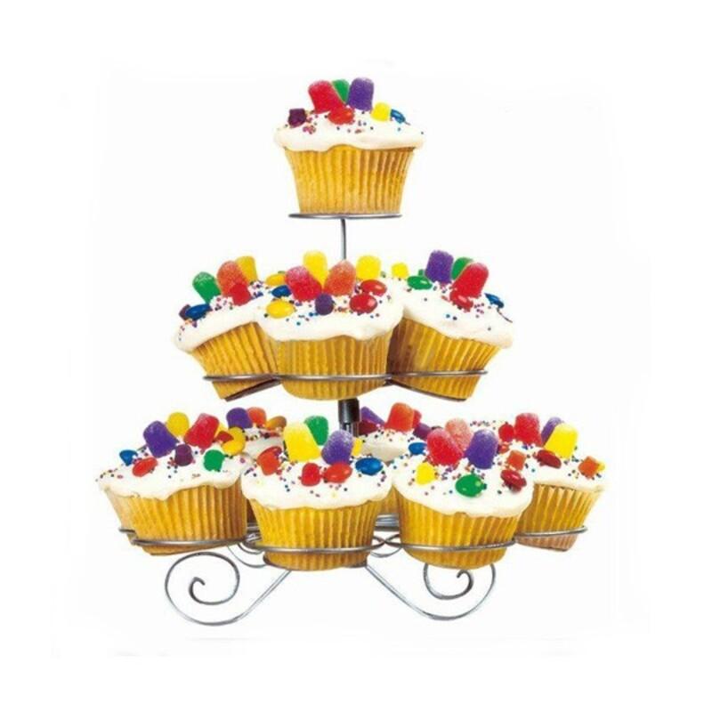Présentoir cupcakes fil 3 étages