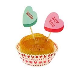 Kit déco cupcakes Tendres coeurs Gatodéco