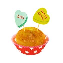 Kit déco cupcakes Coeurs Rouges Patisdecor