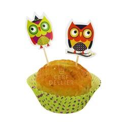 Kit déco cupcakes chouettes Gatodéco