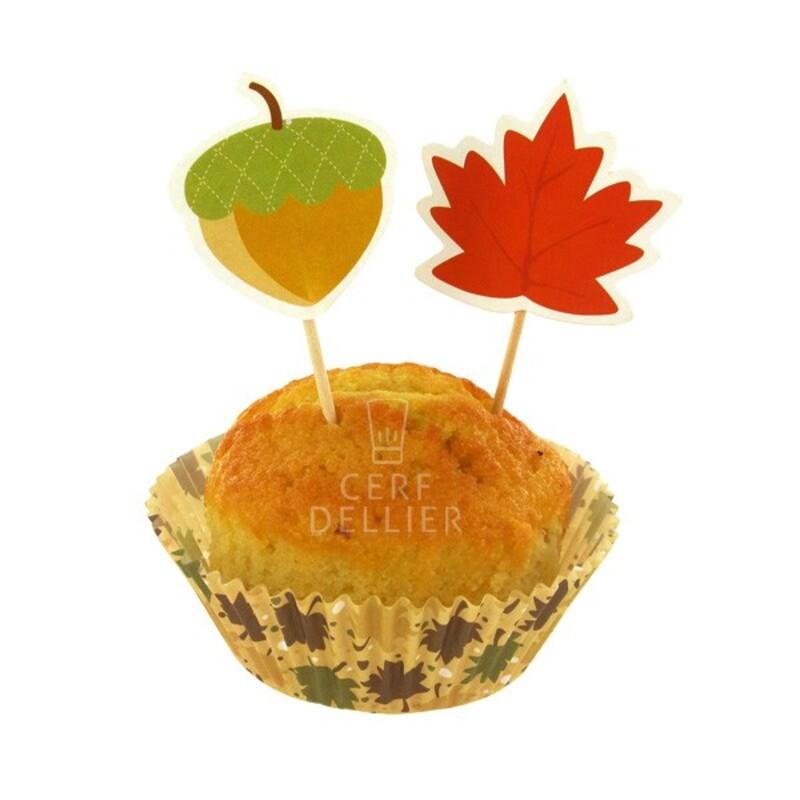 Kit déco cupcakes automne Gatodéco