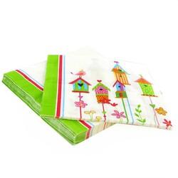 20 Serviettes en papier oiseaux