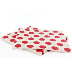 20 Serviettes papier à pois rouges Gatodéco