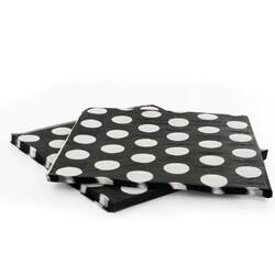 20 Serviettes papier noire pois blanc Gatodéco