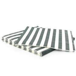 20 Serviettes en papier rayures grises Gatodéco