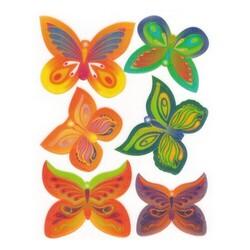 Papillons assortis 3D (par 6)