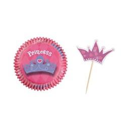 Kit déco cupcakes anniversaire princesse Wilton (x24)