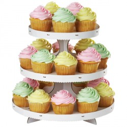 Présentoir cupcakes personnalisable 3 étages Wilton