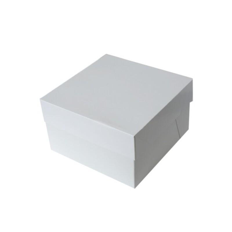Boîte gâteau blanche hauteur 15 cm PME