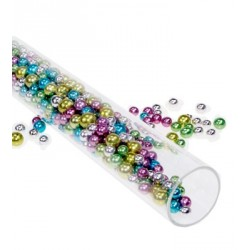 Perles multicolores assorties (90 g)