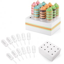 Kit 12 push up cake pops + présentoir Wilton