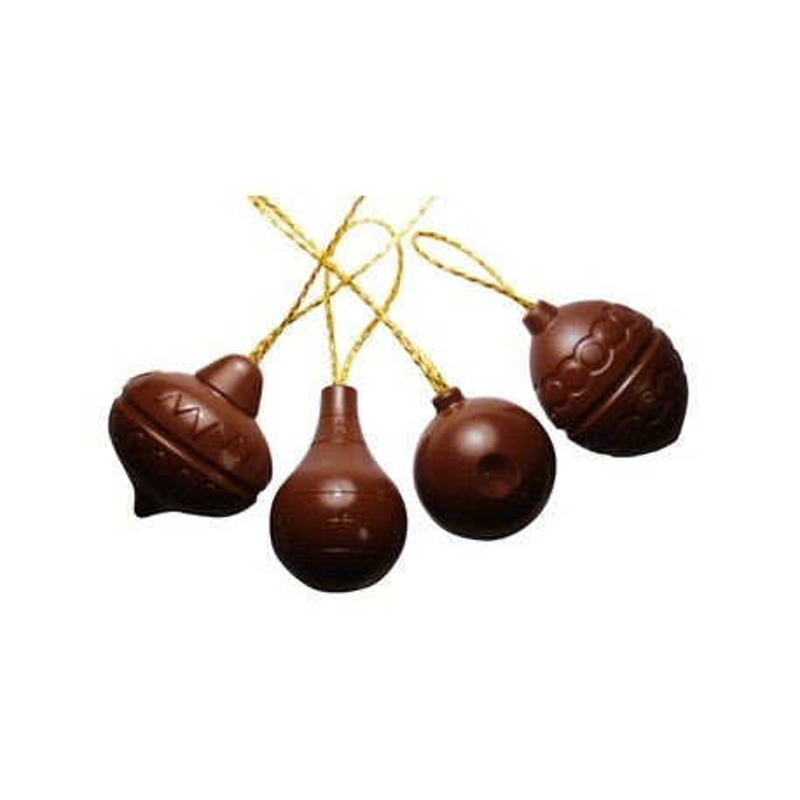 moule chocolat 4 boules de no l en polycarbonate cerf dellier. Black Bedroom Furniture Sets. Home Design Ideas