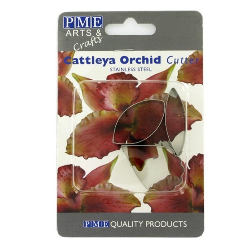 Découpoirs inox pétales orchidée cattleya (par 4)
