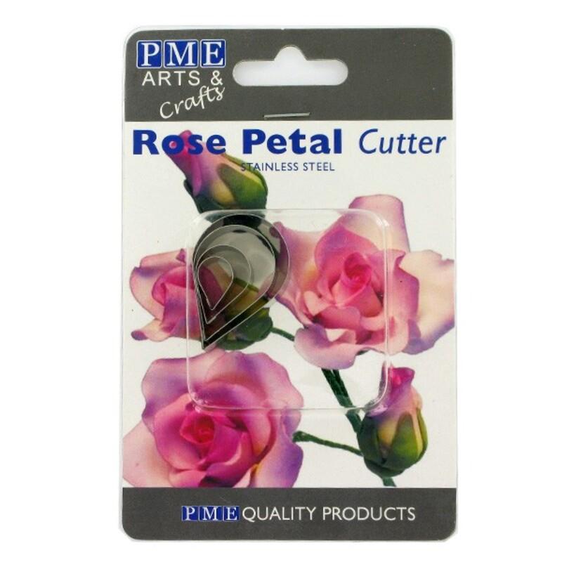 Découpoirs inox pétales de roses (par 4)