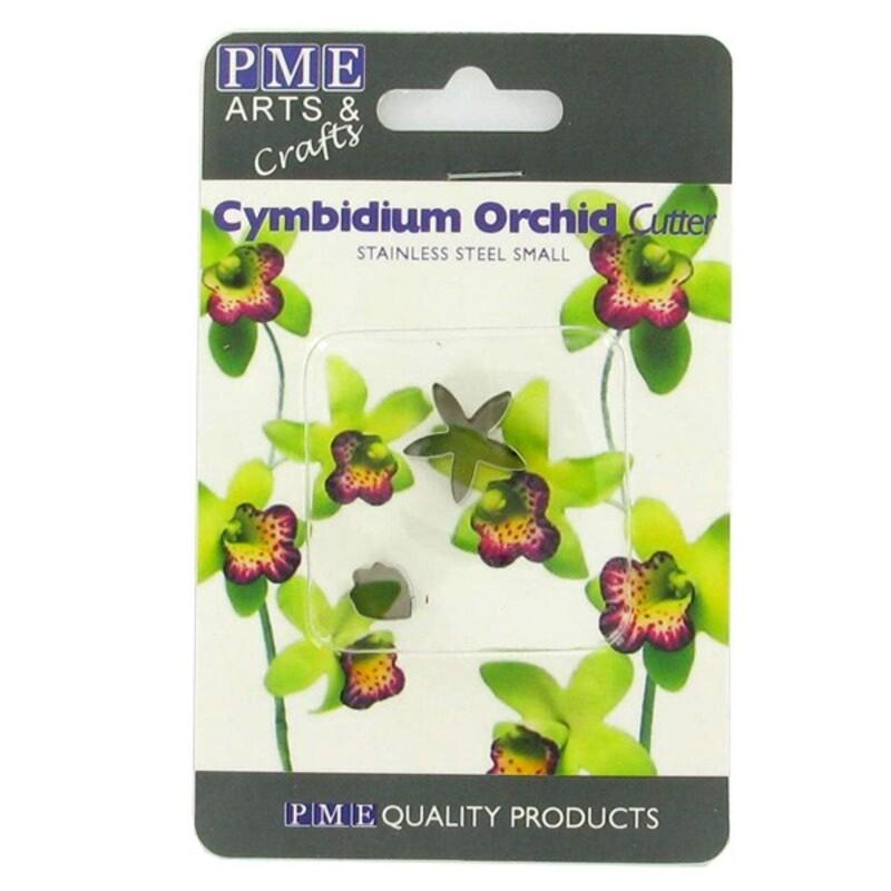 Découpoirs inox pétales orchidée cymbidium (par 2)