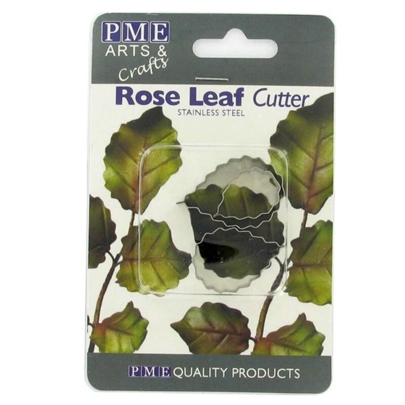 Découpoirs inox feuilles de roses PME (x3)