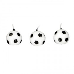 Bougie ballon de football Patisdécor (x 6)