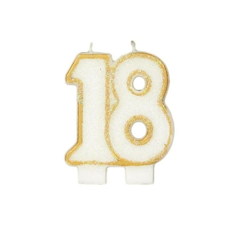 Bougie anniversaire 18 ans Gatodéco
