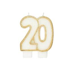 Bougie anniversaire 20 ans Patisdécor