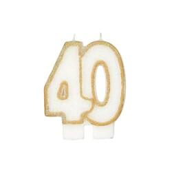 Bougie anniversaire 40 ans Gatodéco