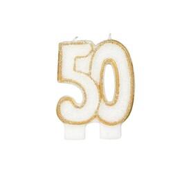Bougie anniversaire 50 ans Patisdécor