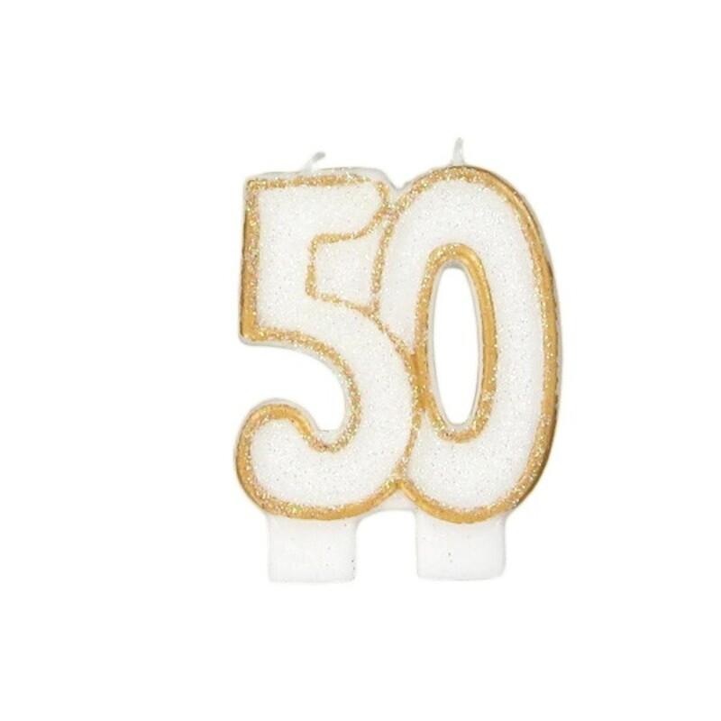 Bougie anniversaire 50 ans Gatodéco