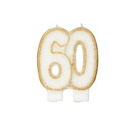 Bougie anniversaire 60 ans Patisdécor