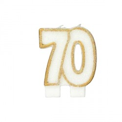 Bougie anniversaire 70 ans Patisdécor