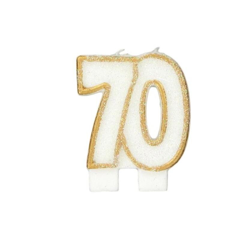 Bougie anniversaire 70 ans Gatodéco