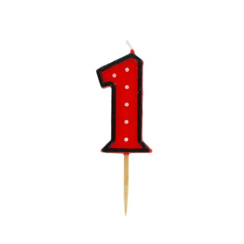 Bougie anniversaire chiffre 1 Fête Gatodéco