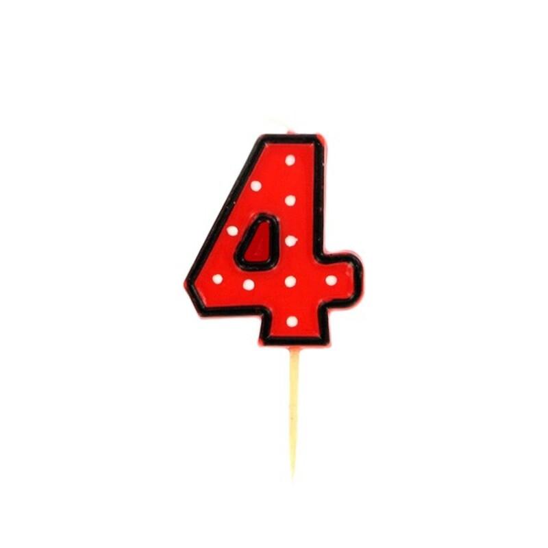 Bougie anniversaire chiffre 4 Fête Gatodéco