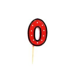 Bougie anniversaire chiffre Fête 0 Patisdécor
