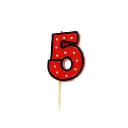Bougie anniversaire chiffre Fête 5 Patisdécor