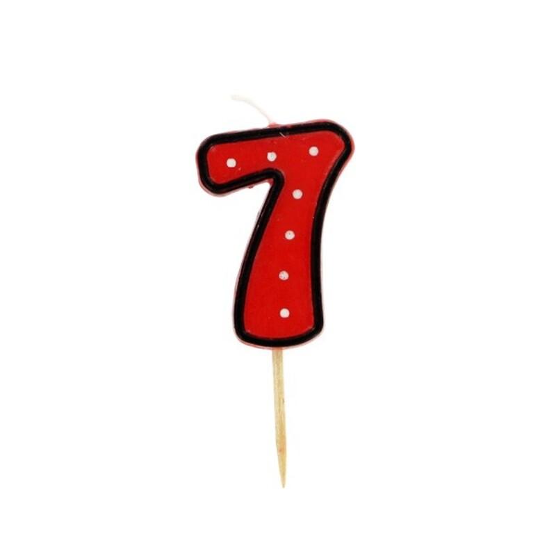 Bougie anniversaire chiffre 7 Fête Gatodéco
