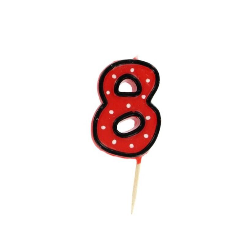 Bougie anniversaire chiffre 8 Fête Gatodéco