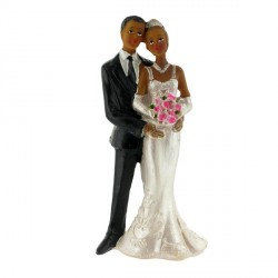 Mariés noirs robe bretelles Gatodéco
