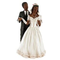 Couple de mariés Révérence noirs Gatodéco