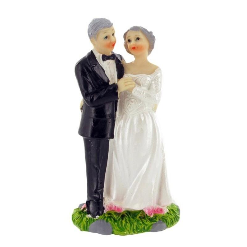 Mariés grisonnants rêveurs Gatodéco