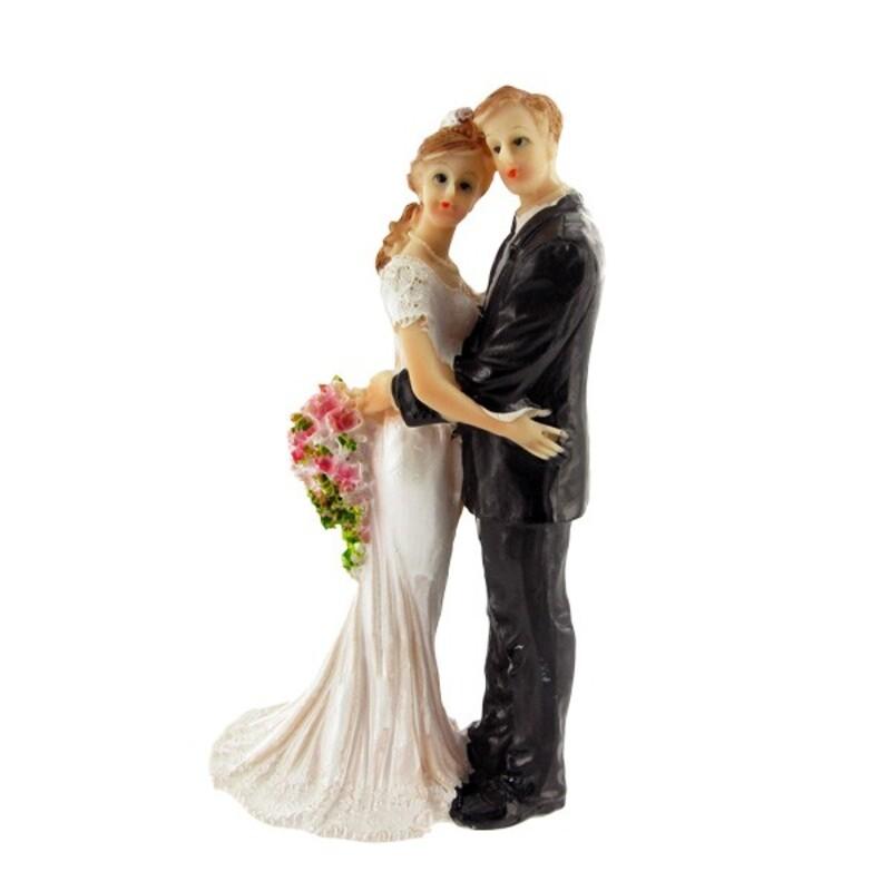 Couple de mariés enlacés Gatodéco