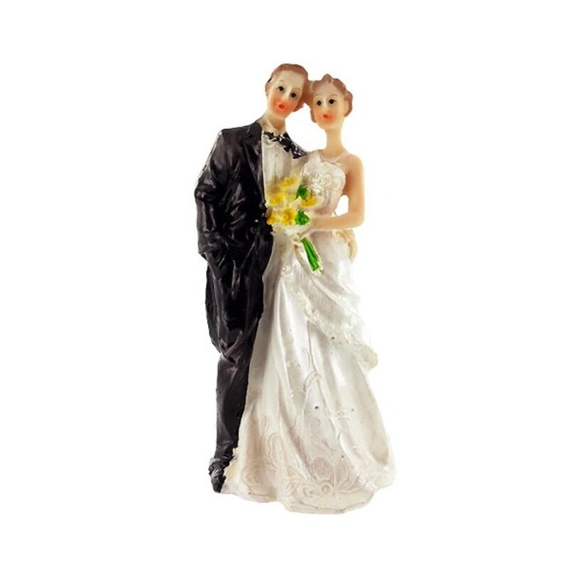 Mariés bouquet jaune Gatodéco